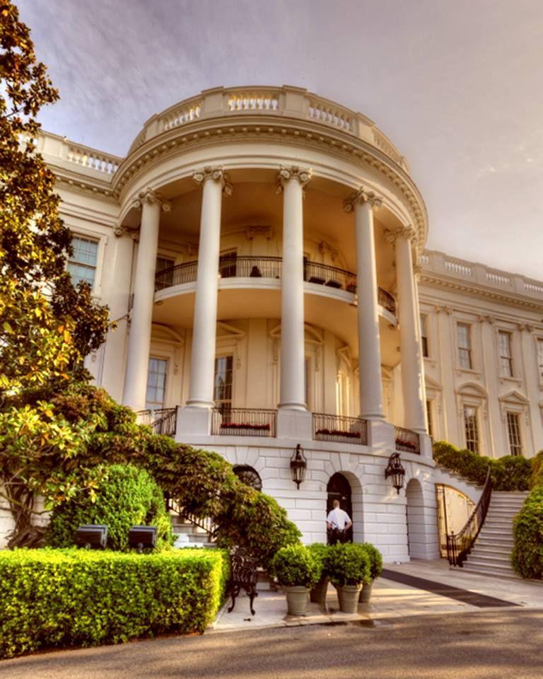 The White House South Portico White house washington dc