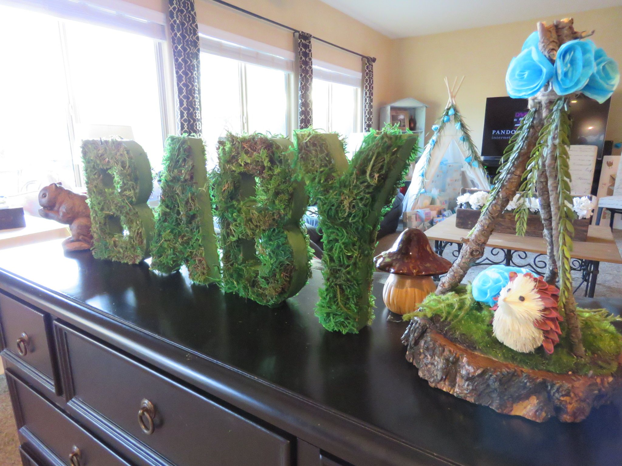 Mossy Letters For Woodland Baby Shower  Party Stuff