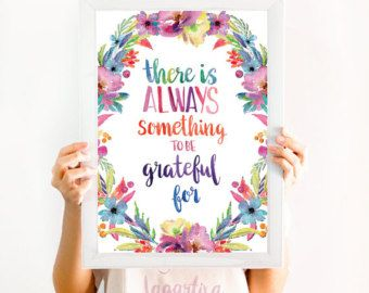 This Is My Happy Place Quote Wall Art Decor Print Watercolor And