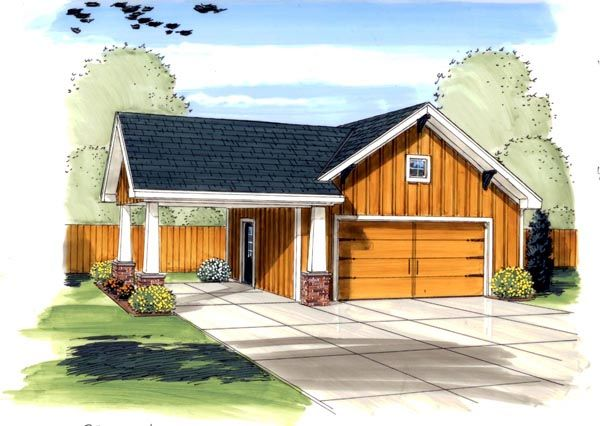 Traditional Style 3 Car Garage Plan Number 44133 Carport Designs Garage Plans Garage Design