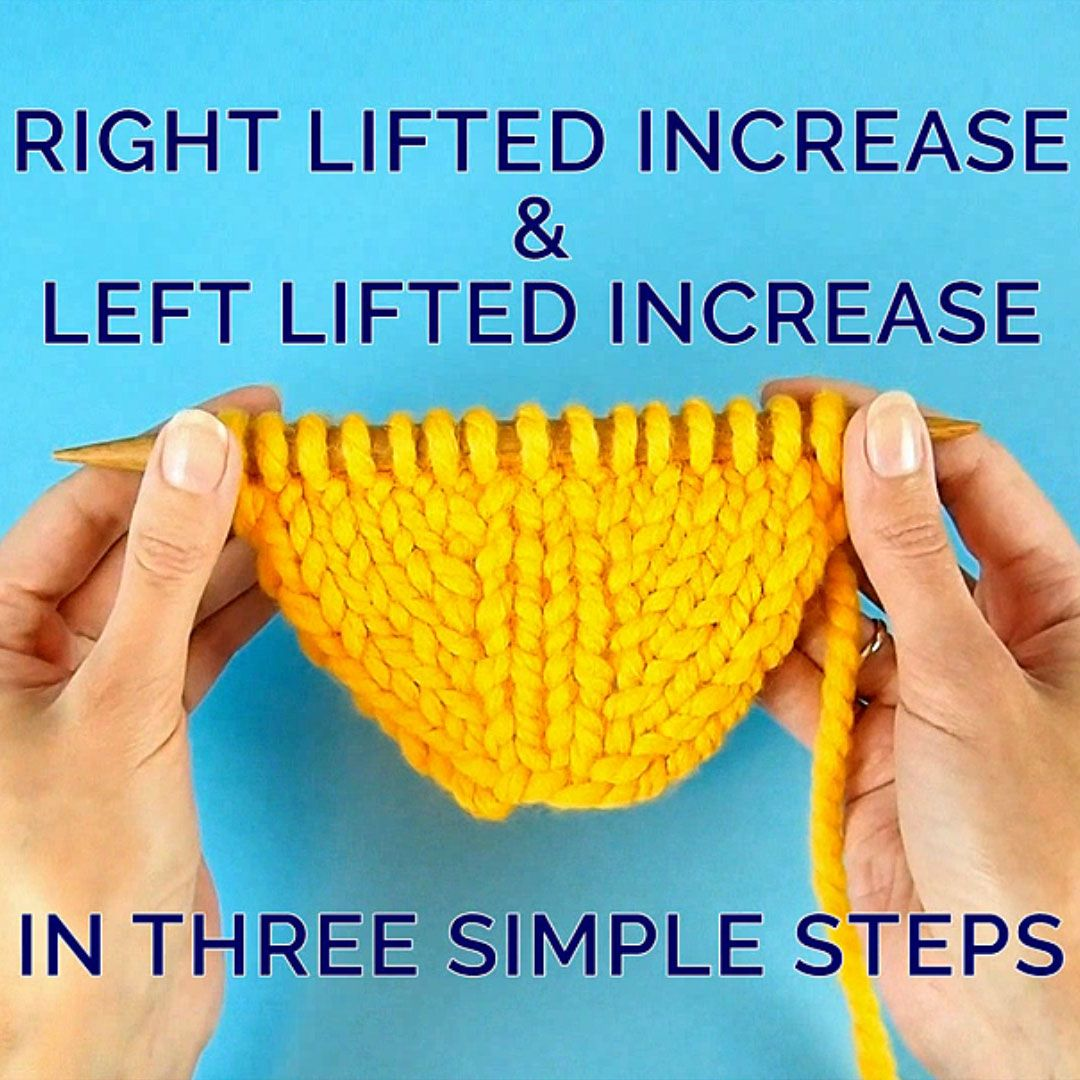 Photo of Right Lifted Increase and Left Lifted Increase in Three Simple Steps