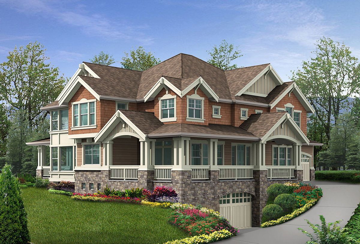 Plan 23198JD Stunning Exterior with Incredible Floor
