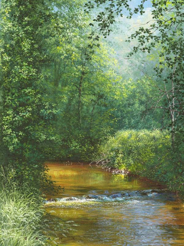 Amazingly Colorful Paintings By Artist David Crane Landscape Painting Nature Paintings And Timeless Flower Landscape Paintings Nature Paintings Uk Landscapes