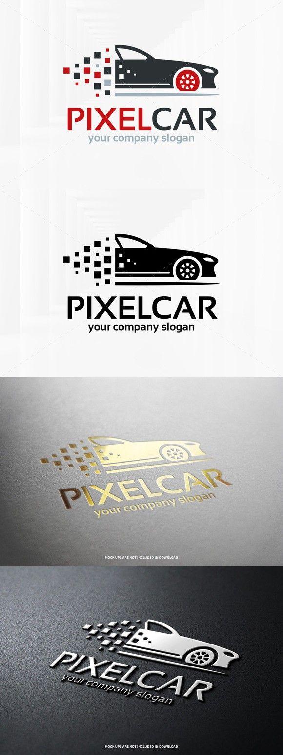 Pixel Car Logo Template Car Logo Design Pixel Car Car Logos