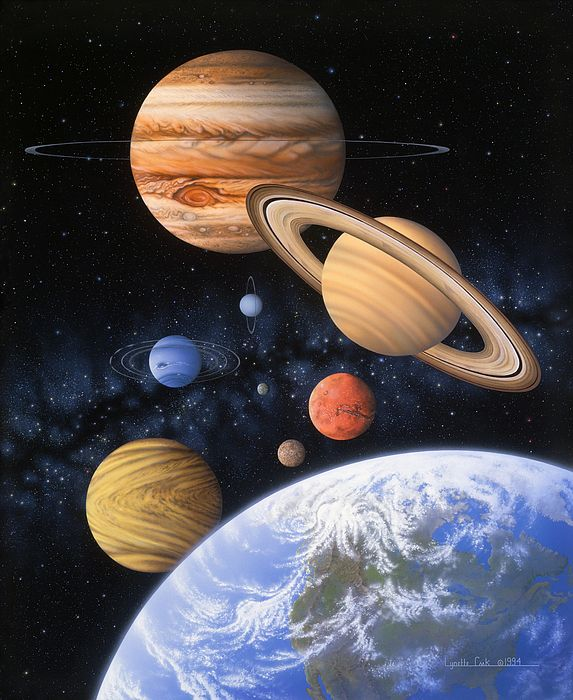 Beyond The Home Planet Painting