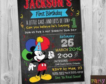 Mickey Mouse Invitation Mickey Mouse Birthday Invitation Mickey