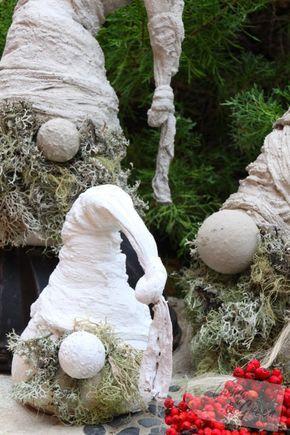 Wichtel aus Beton DIY - Weihnachtsdekoration Wichtel aus Beton DIY - coole buchstutzen kreativ dekorativ stabil