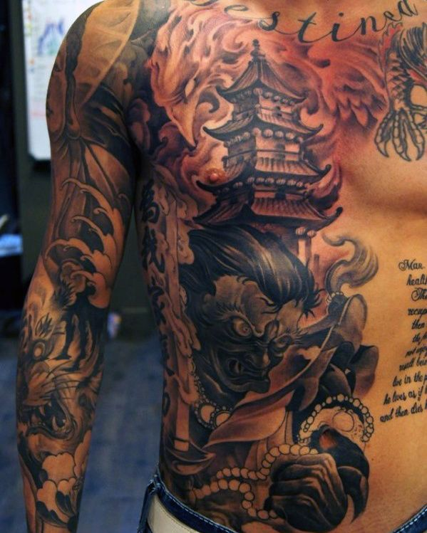 Chest Sleeve Tattoo Designs: Top 87 Men's Chest Tattoo Ideas [2020 Inspiration Guide
