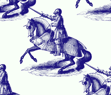 Knights of Broadway fabric by peacoquettedesigns on Spoonflower - custom fabric/WALLPAPER!