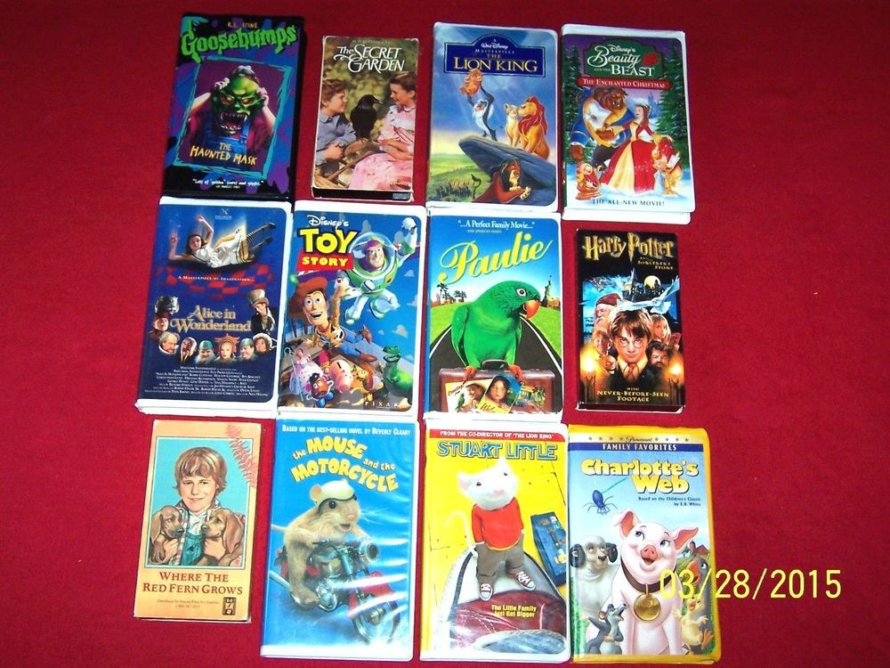 12 Kids VHS Videos~Elementary~Red Fern~Mouse & Motorcycle~Harry ...