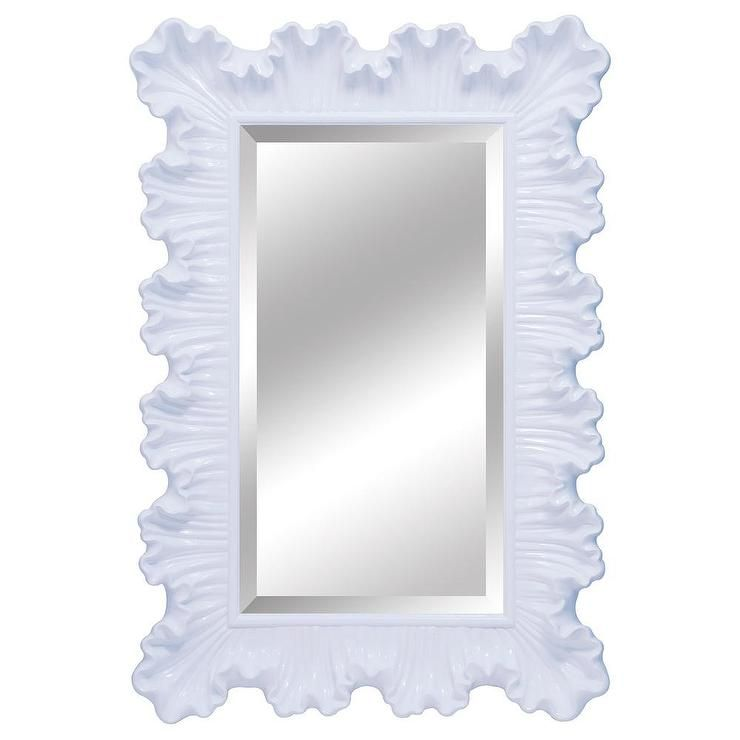 32 X 48 Mirror Part - 24: Ardant Pearl White Mirror X