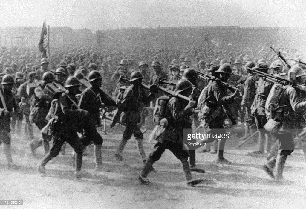 Communist Troops Of The Chinese Red Army On The March During The