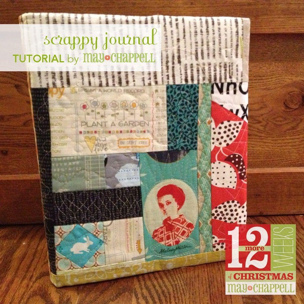 Fabric Composition Book Cover Tutorial ~ Scrappy journal tutorial journal covers journal and tutorials