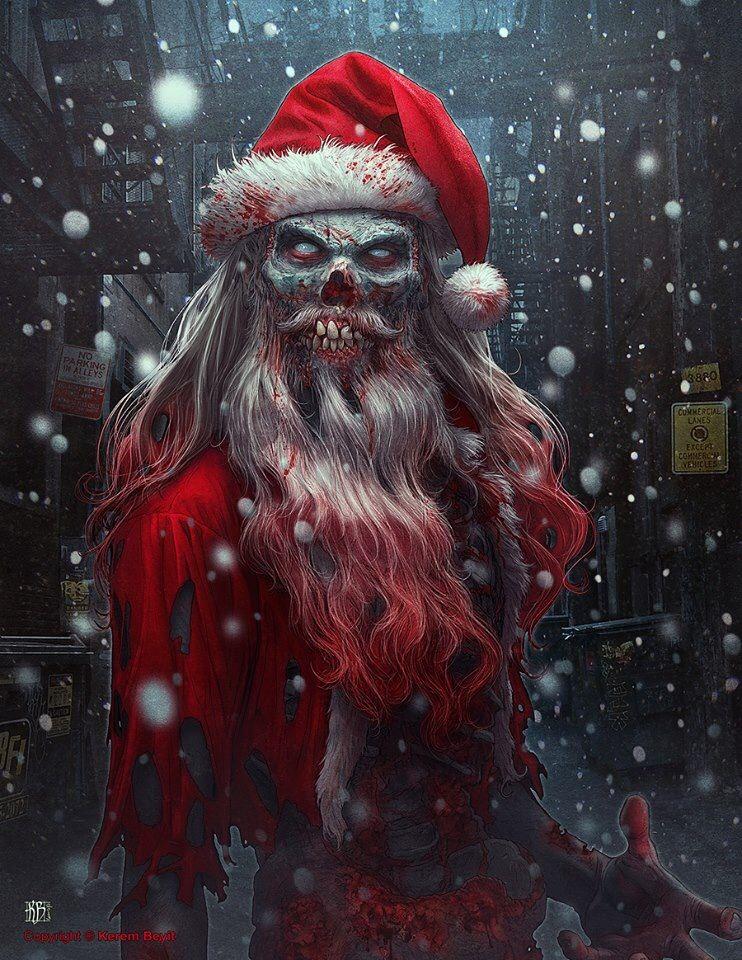 Bad Santa Creepy Christmas Christmas Horror Zombie Art