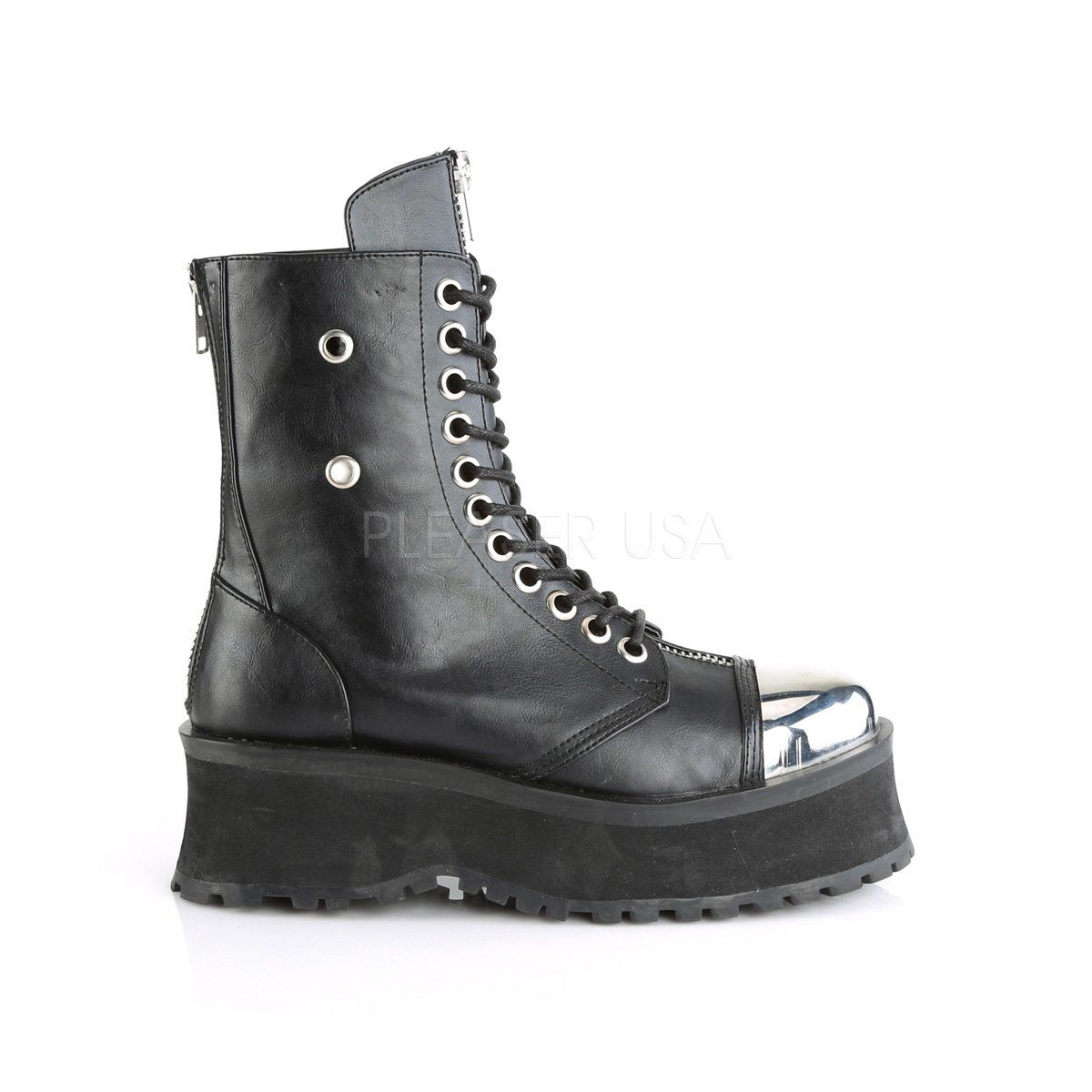 Lace up ankle boots, Goth platform boots
