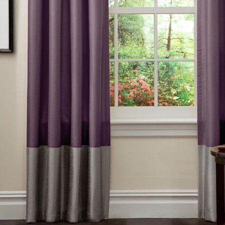 Prima Curtain Panel In Purple Gray Set Of 2 Purple Curtains