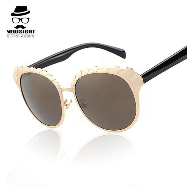designer eyewear online  Gold Sunglasses 2016 Unique Style Party Eyewear Women Fashion ...