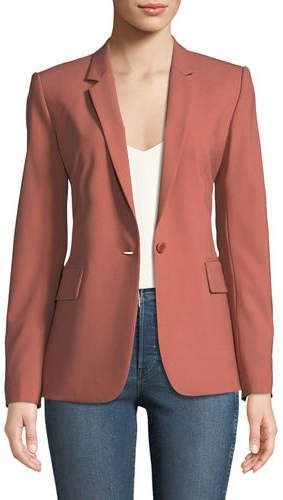 7f79698782 Theory Essential One-Button Stretch-Wool Jacket | Products | Jackets ...