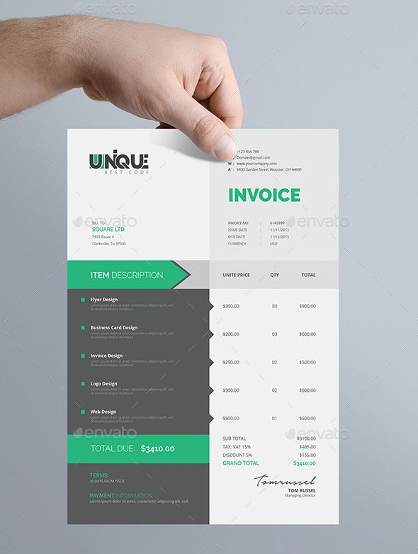 Creative invoice template invoices template pinterest template creative invoice template thecheapjerseys Image collections