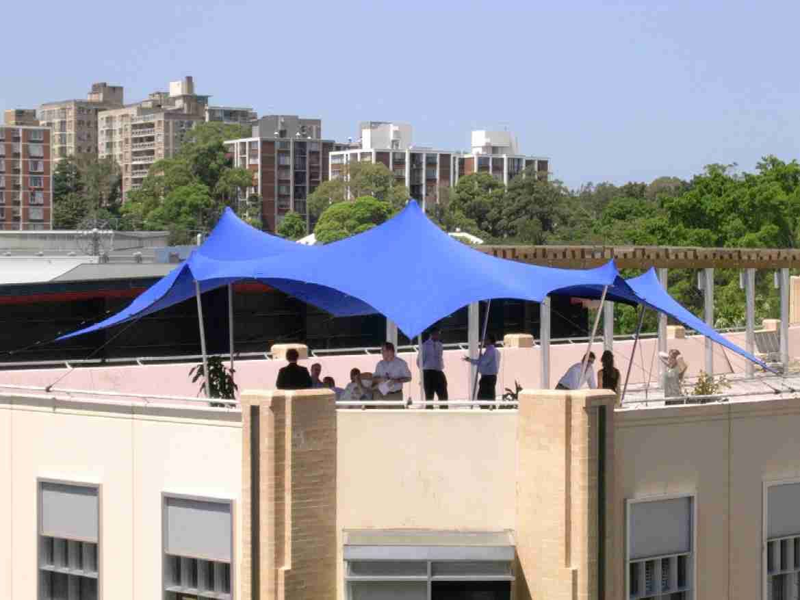Funky roof top events made easy - www.stretchtents.co