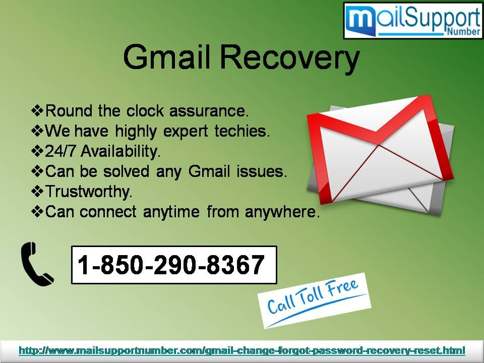 How can i eliminate gmail recovery issue 18502908367