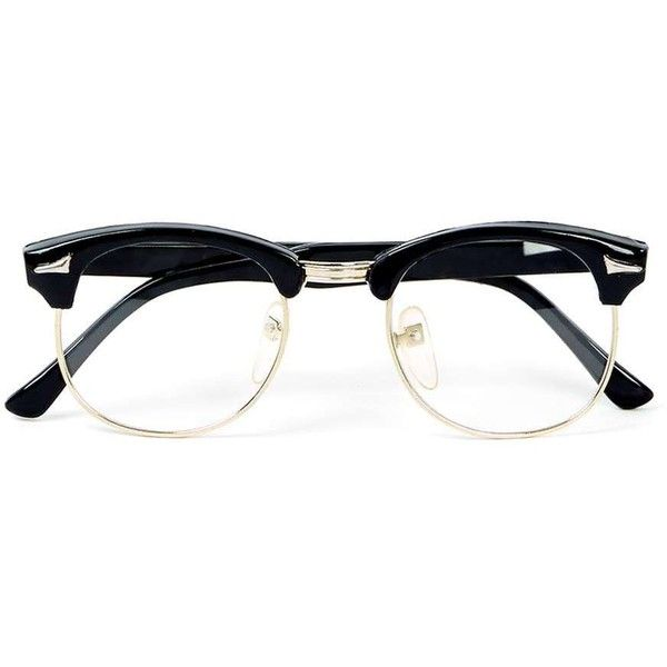 df7946cf5b7 TOPMAN Hindsight Vintage Markham Black Sunglasses ( 24) ❤ liked on Polyvore  featuring men s fashion