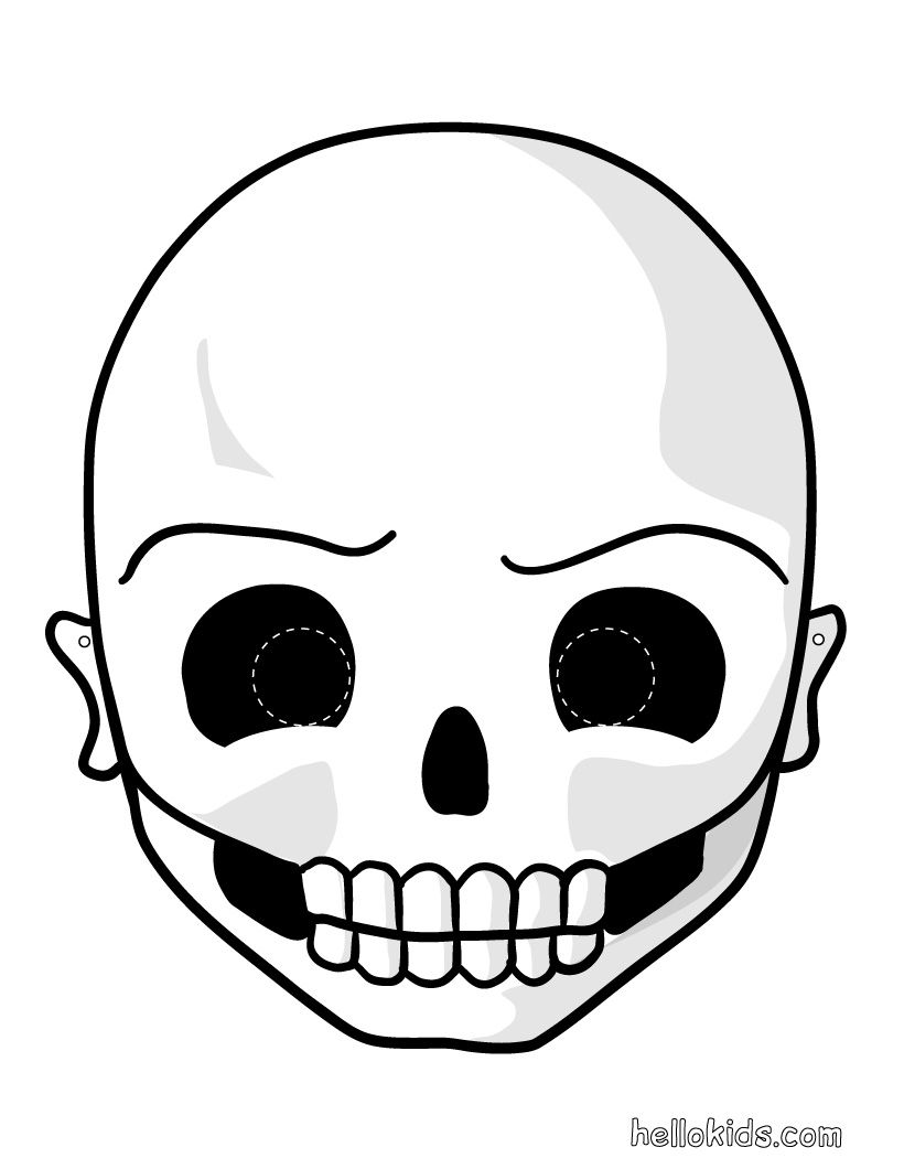 Printable halloween masks skull mask to print and cut out for kids ...