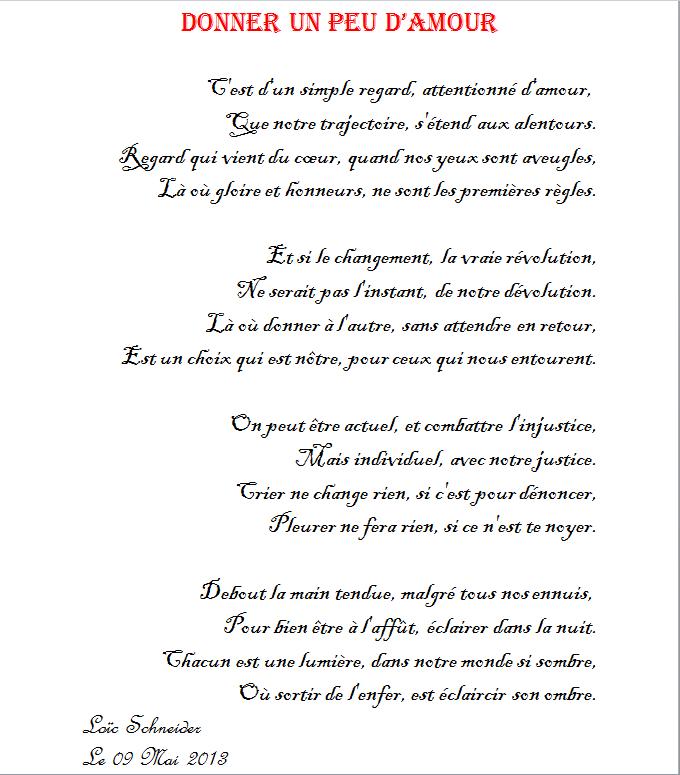 45 Donner Un Peu D Amour Poeme Poesie Amour