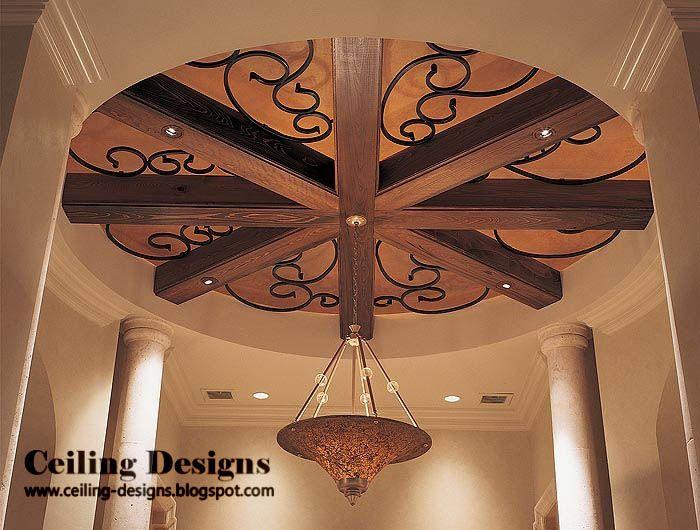 Circular wood false ceiling designs for living room with for Wooden false ceiling for living room