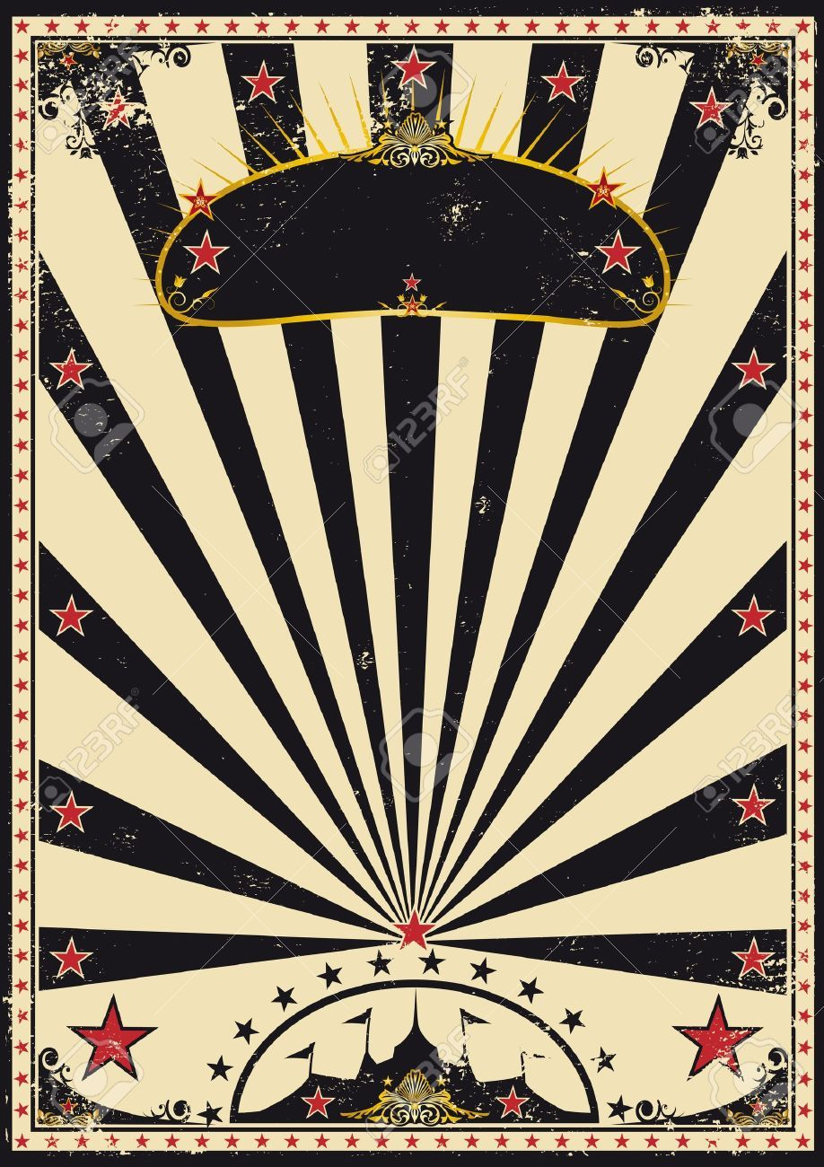 A retro circus poster for your advertising stock vector for Circus posters free