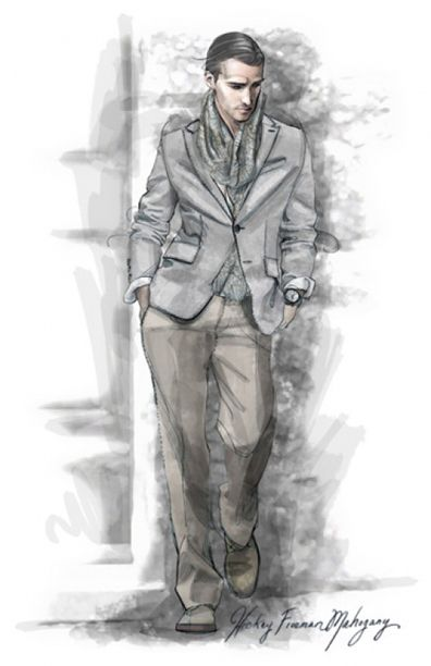 menswear suit illustration projects to try pinterest