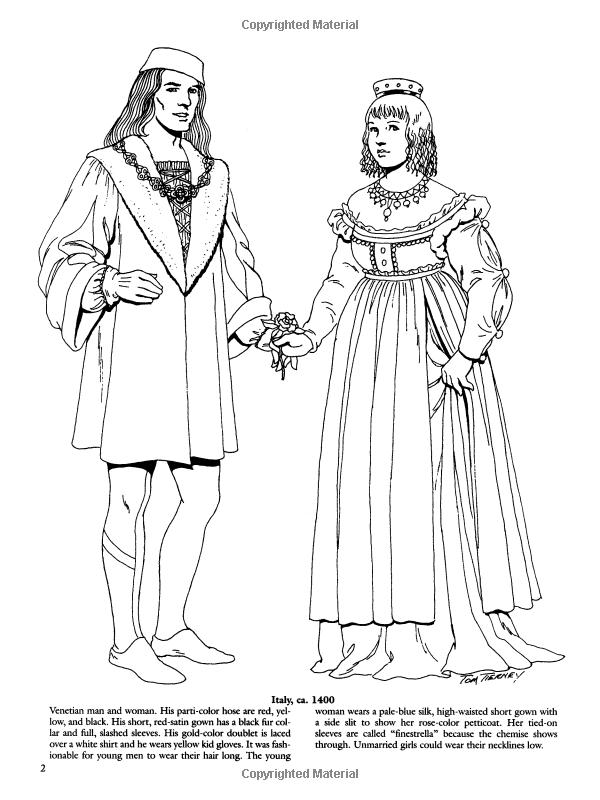 Amazon.com: Renaissance Fashions (Dover Fashion Coloring Book) (9780486410388): Tom Tierney ...