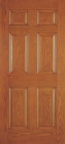 Drg60 Plastpro Fiberglass Woodgrain Six Panel Entry Door 1 3 4 Interior Exterior Doors Doors Fiberglass Door