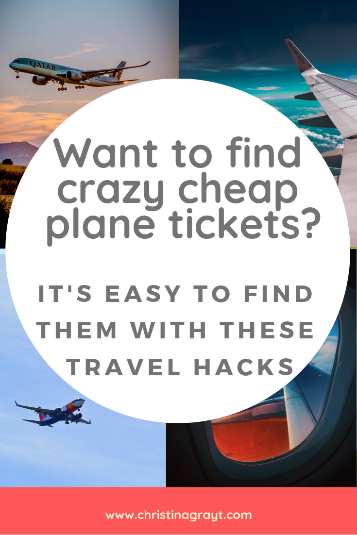 Want to find crazy cheap plane tickets? It's EASY to find them with these travel hacks. No matter where you're going you can use these travel tips to get there on a budget. #budget #backpacker #travel #digitalnomad #cheaptickets #planetickets #travelhacks #travelhacker ##traveltips #budgettravel #budgetbackpacker #solofemaletravel #cheaptravel #slowtravel #norwegianair #skyscanner #backpacking