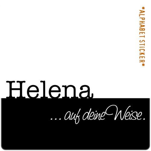 www.aufdeineweise.de · HELENA – SCRAPBOOKING ALPHABET STICKERS · Made in Germany · Format: KLASSIK. (spiegelverkehrtes Alphabet)