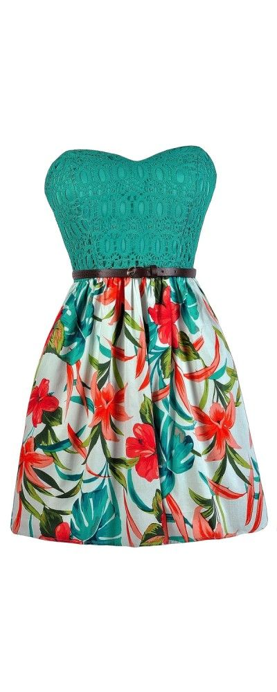 Florida Keys To My Heart Tropical Printed Dress | Pinterest ...