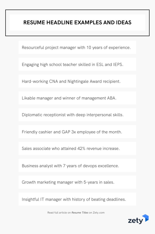 Resume Headline Examples And Ideas Job Resume Examples Resume Writing Tips Resume