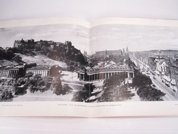 Vintage Edinburgh Scotland Photography Postcard Book By Annegraham