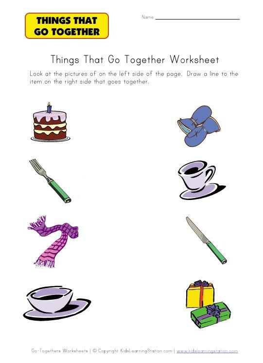 Go Togethers Worksheet Speech Stuff Misc Pinterest Worksheets