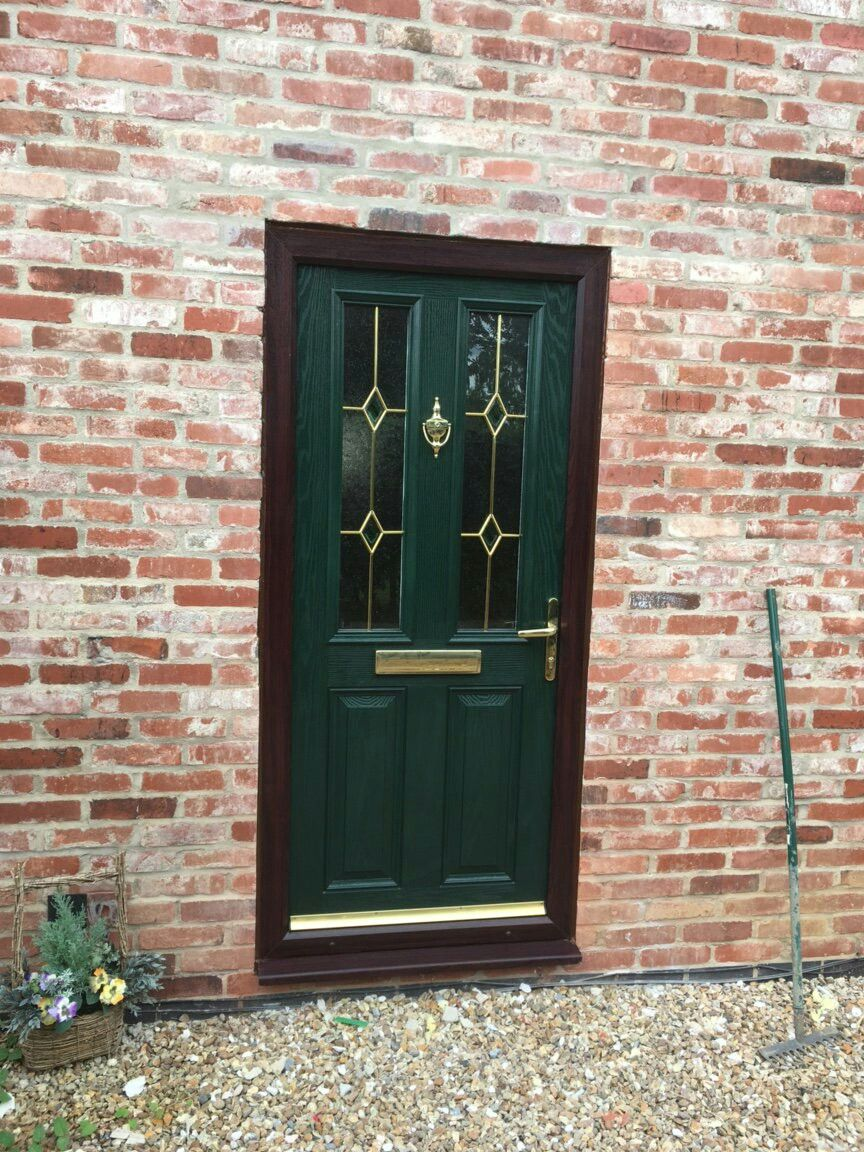 Composite | Front Door | Rosewood Frame | British Racing Green ...