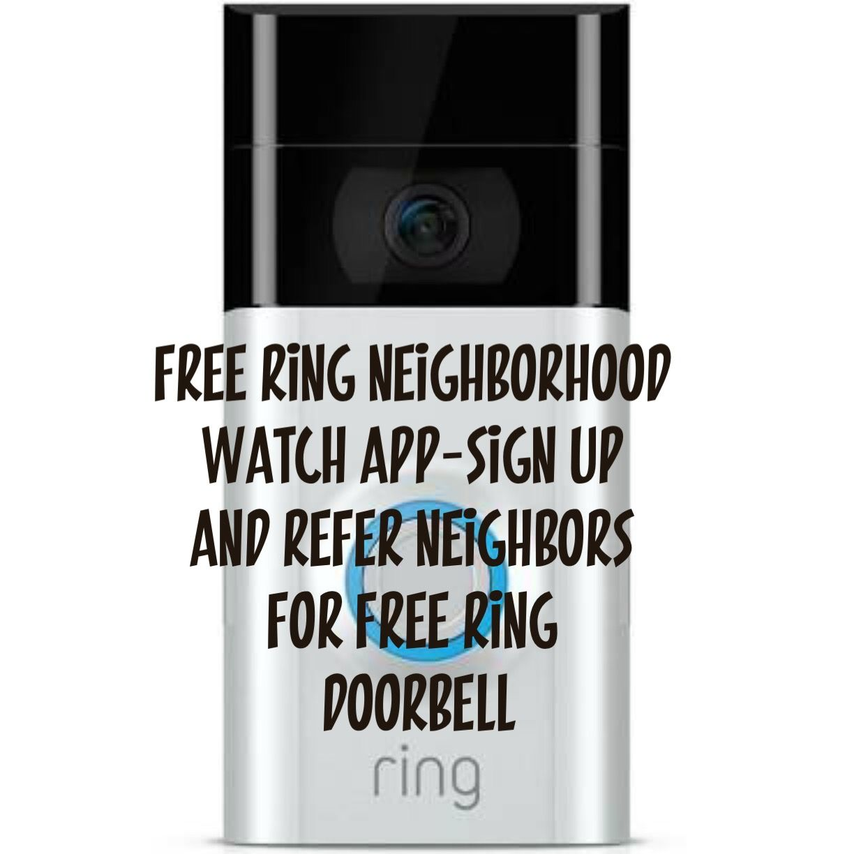 Free Neighborhood Watch App using Ring doorbells see