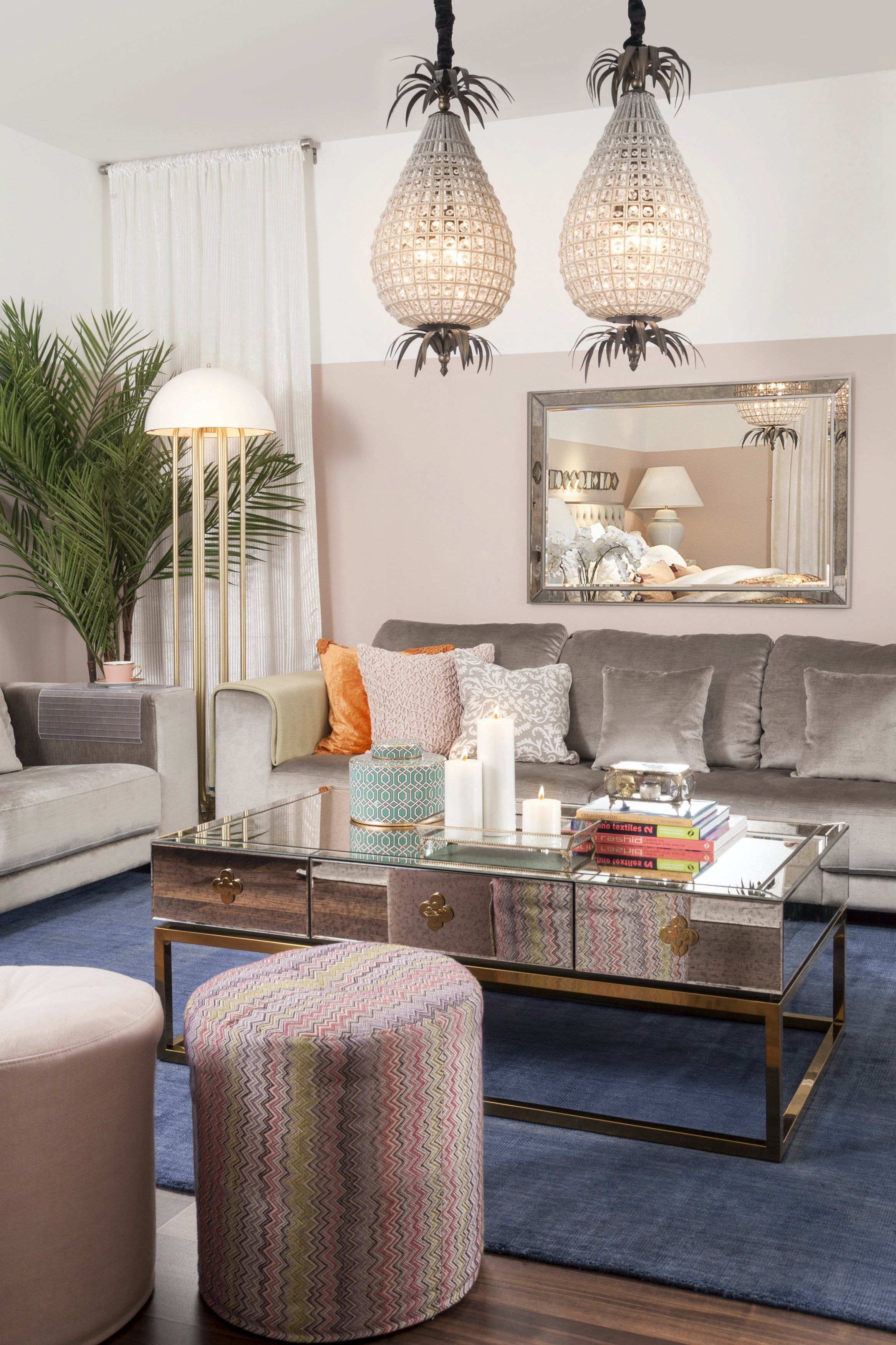 Amazing Living | Opulent: Create Sleek And Modern Feminine Look By Combining  Elegant Velvet And Mirror Furniture With The Fun Mix Of Bright Coloured  Pieces: Add A ...