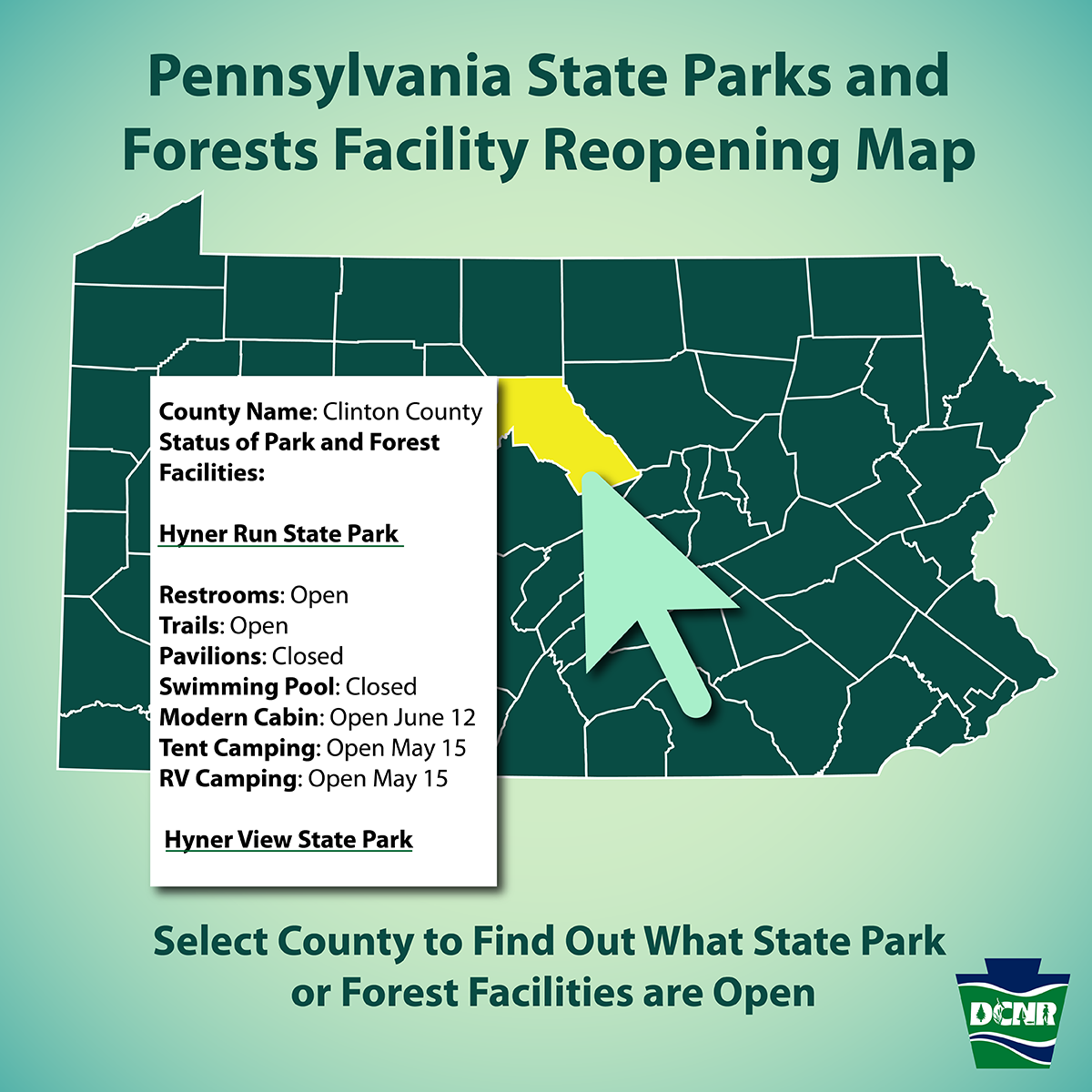 As State Parks Forests Reopen Dcnr Releases Facility