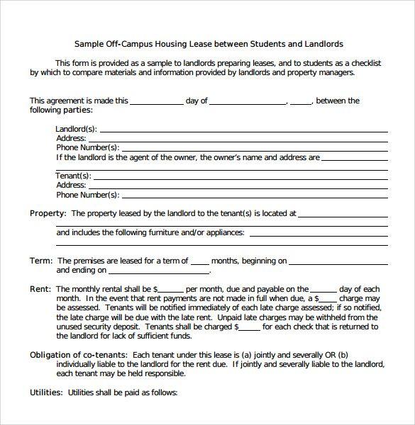 Leasing Agreement Pdf template Pinterest Pdf and Template - sample house lease agreement template
