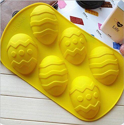 Drhob 1pc Yellow 6 Grid Silicone Mold Forice Jelly Soap Bread