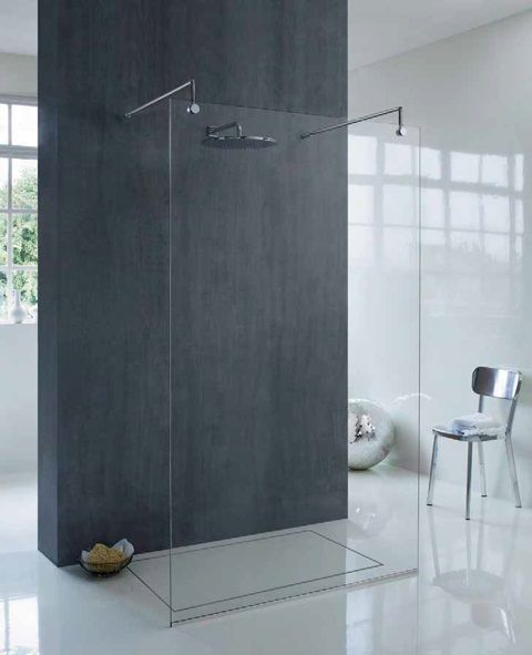 Free Standing Glass Shower Panel Google Search Bathroom Shower
