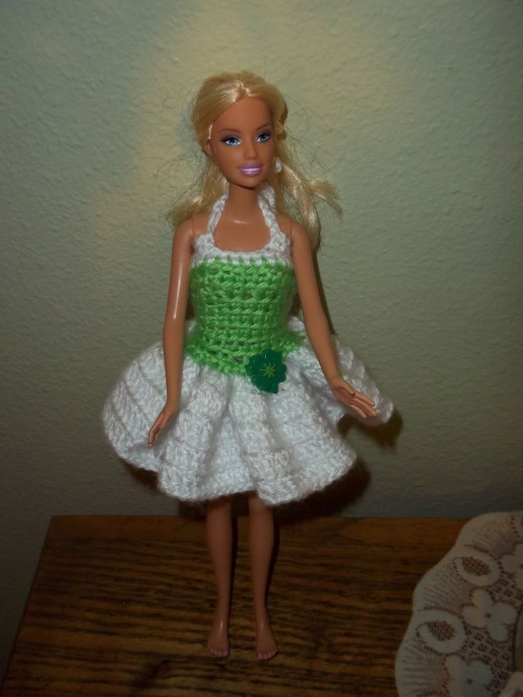 Crochet Barbie Doll Ballet Dress Patterns Barbie Crochet Dress