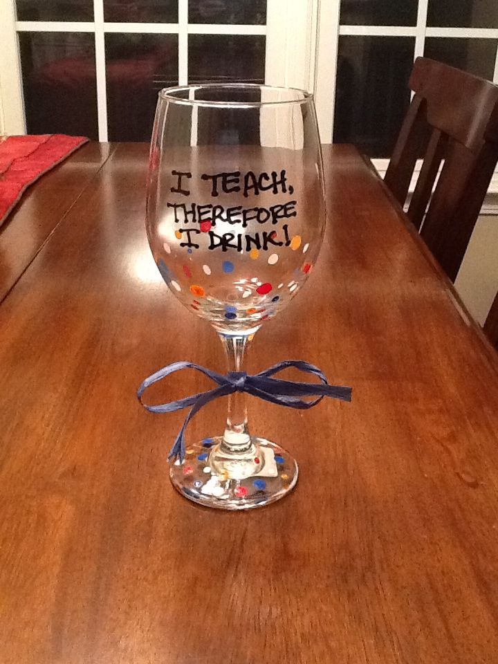 Handpainted glasses from dollar store. Great gift idea. Paint & cure.