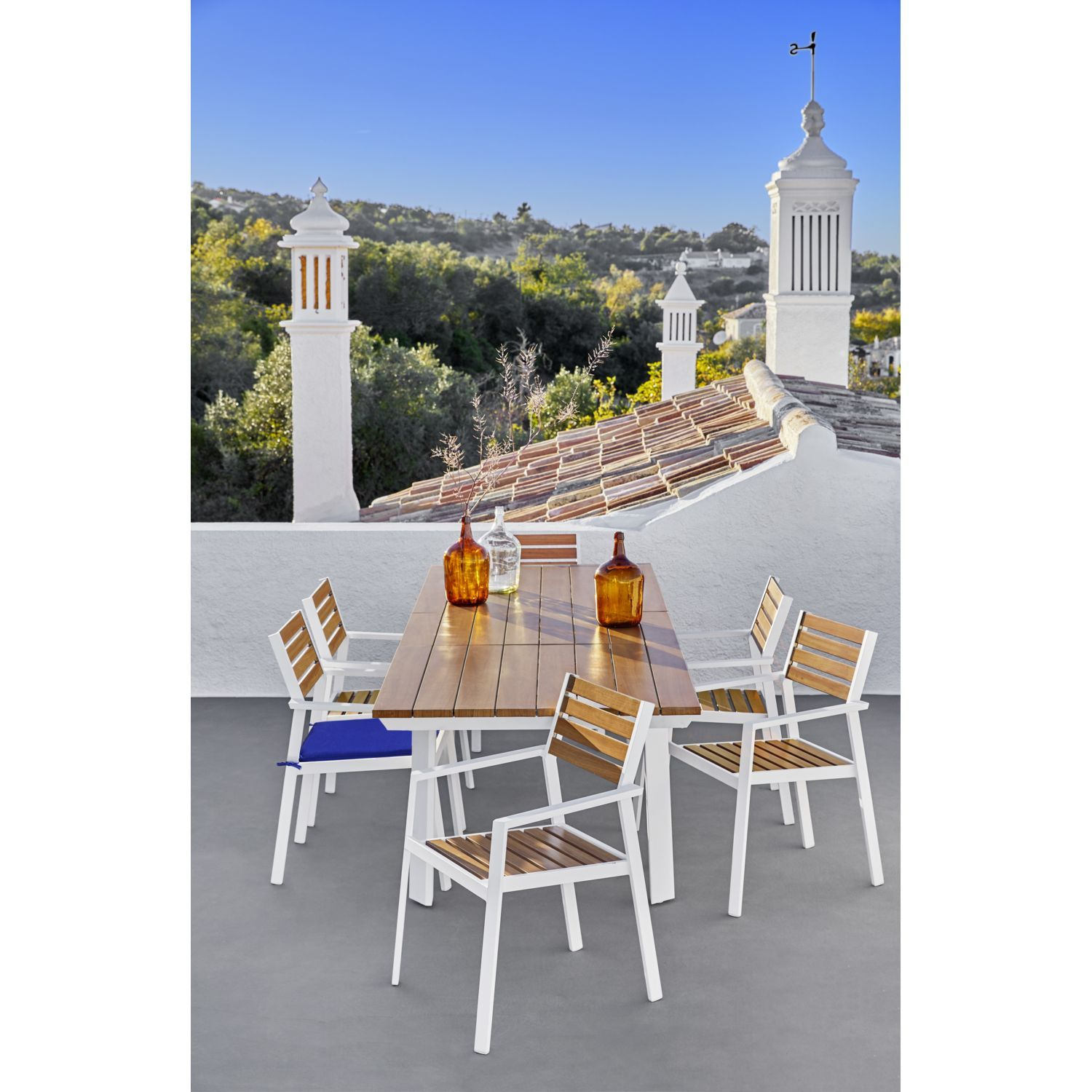 Hyba Table Sea Port Extensible Rectangulaire Pas Cher Table De Jardin Rue Du Commerce Table De Jardin Rue Du Commerce Meuble Pas Cher