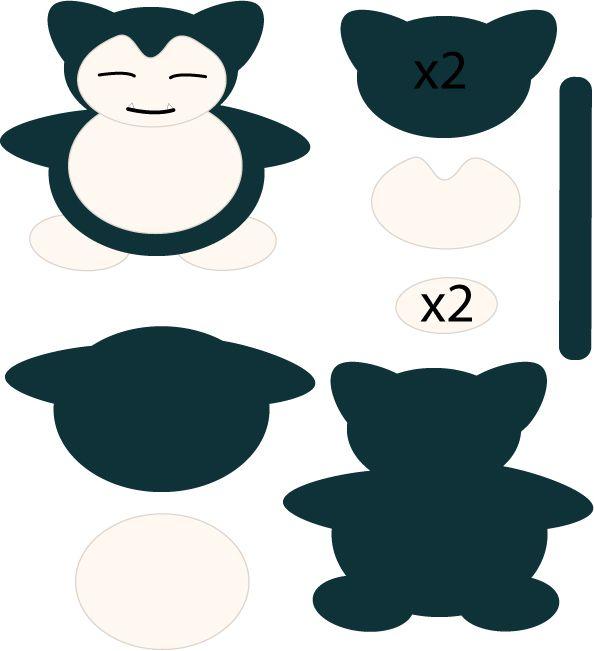 Snorlax Pattern by Mokulen22.deviantart.com on @deviantART   pokemon ...